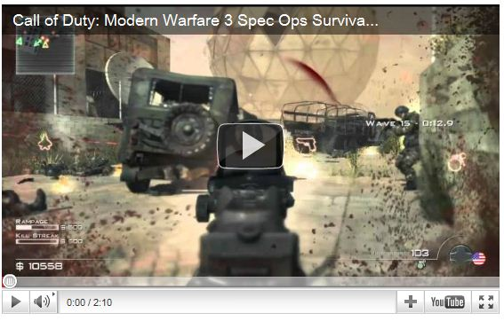 Call of Duty Modern Warfare 3 Spec Ops Trailer