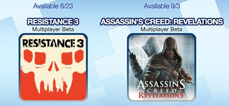 Resistance 3 and Assassins Creed Revelations