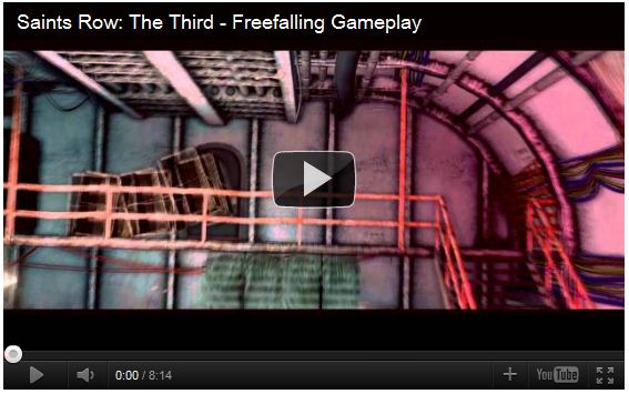 Saints Row The Third Freefall Gameplay