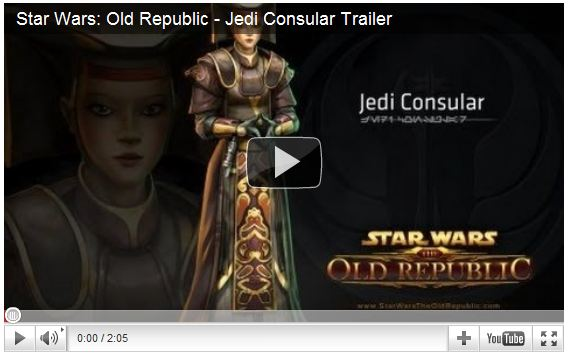 Star Wars The Old Republic Jedi Consular Trailer