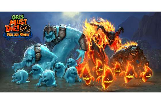 Orcs Must Die Fire and Water Logo